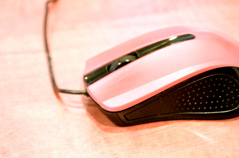 Czerwona mysz komputerowa