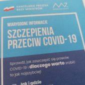 Ulotka informacyjna o szczepieniach przeciw COVID-19