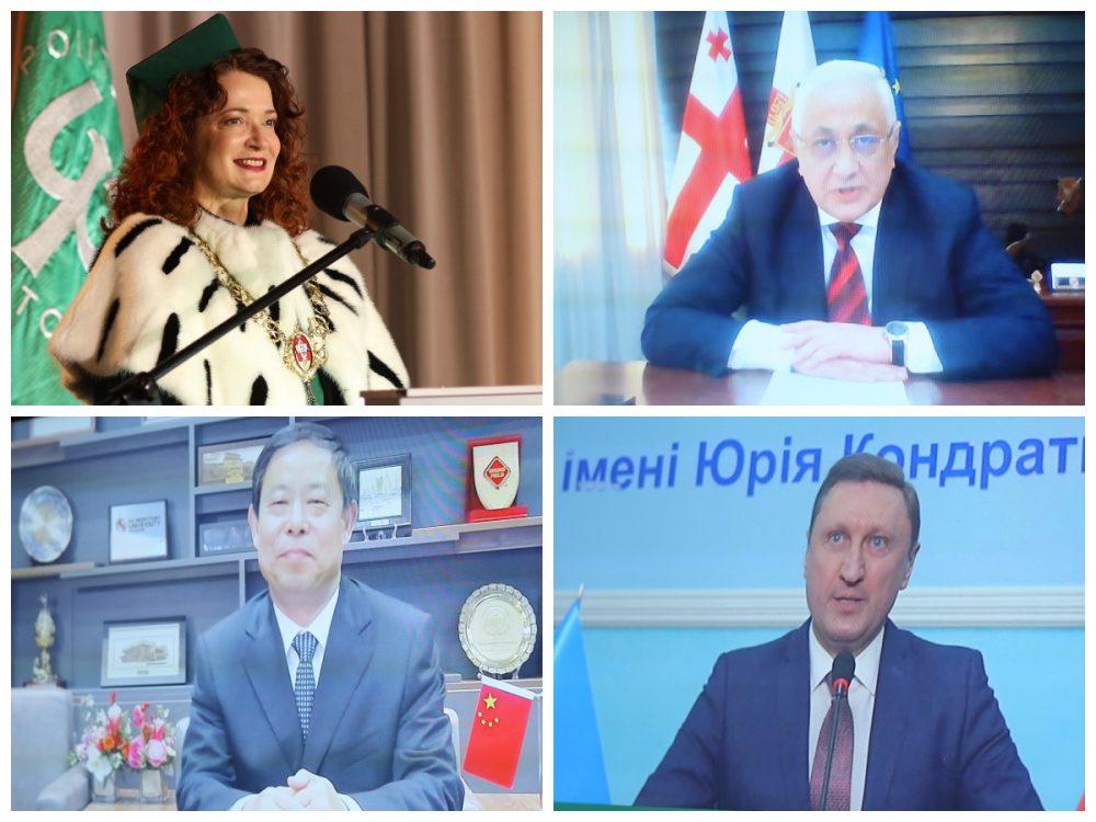 Screeny z twarzami nowych honorowych profesorów PB